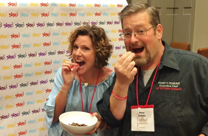 Sheri Wetherell, Founder/CEO of Foodista.com, and I enjoying a bug or two at the 2016 International Food Blogger's Conference in Sacramento!